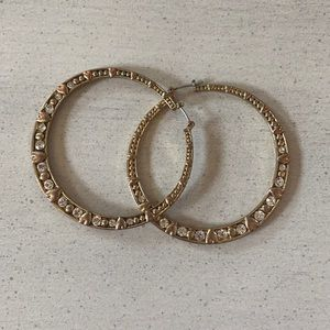 Betsy Johnson costume large hoop earrings